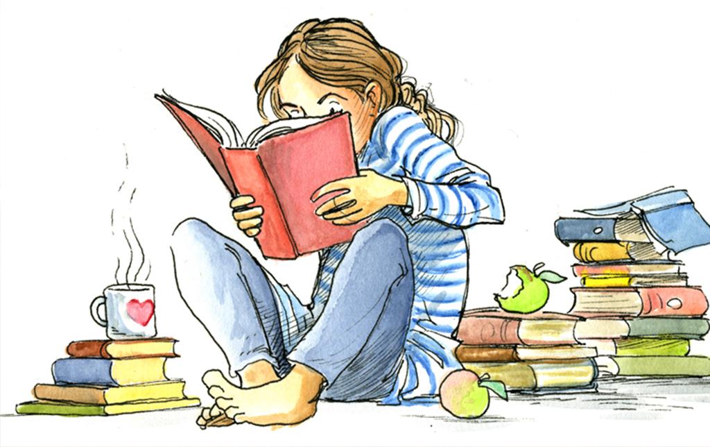 Картинки о чтении и книги